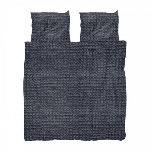 Snurk flanellen dekbedovertrek Twirre (Charcoal Black)