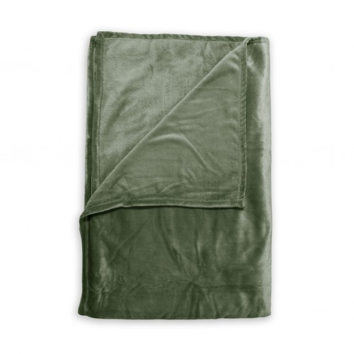 Zo! Home Fleece plaid Cara 140x200 (moss green)