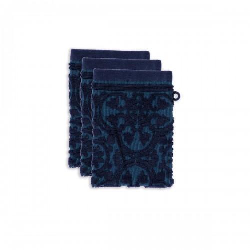 PiP studio washandjes Tile de Pip (set van 3 stuks, dark blue)