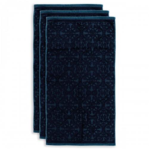 PiP studio handdoek Tile de Pip (set van 3 stuks, dark blue)