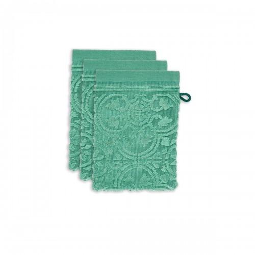 PiP studio washandjes Tile de Pip (set van 3 stuks, green)