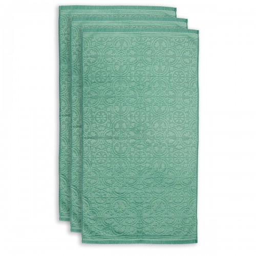 PiP studio handdoek Tile de Pip (set van 3 stuks, green)