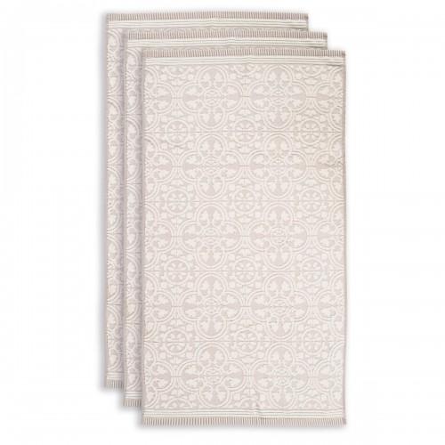 PiP studio handdoek Tile de Pip (set van 3 stuks, khaki)
