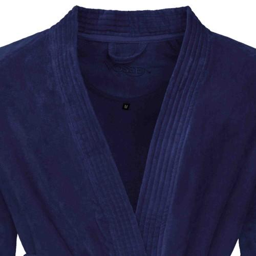 Vossen Badjas Dallas (donkerblauw, velours) Unisex