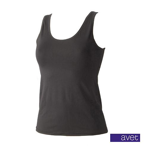 Avet dameshemd 7590 zwart (microvezel)