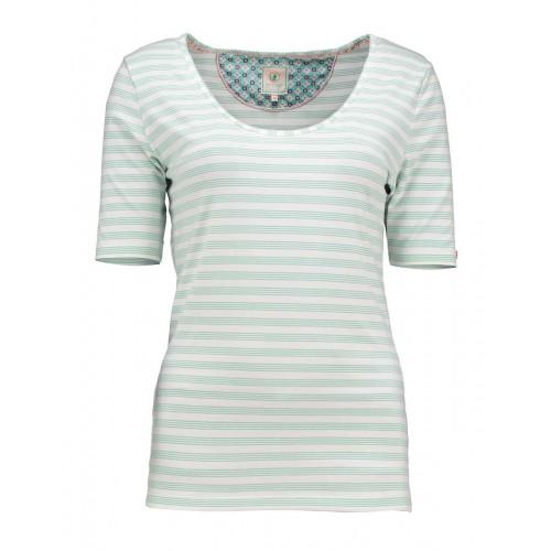 PiP Tjess Mini Stripe Top (blauw)