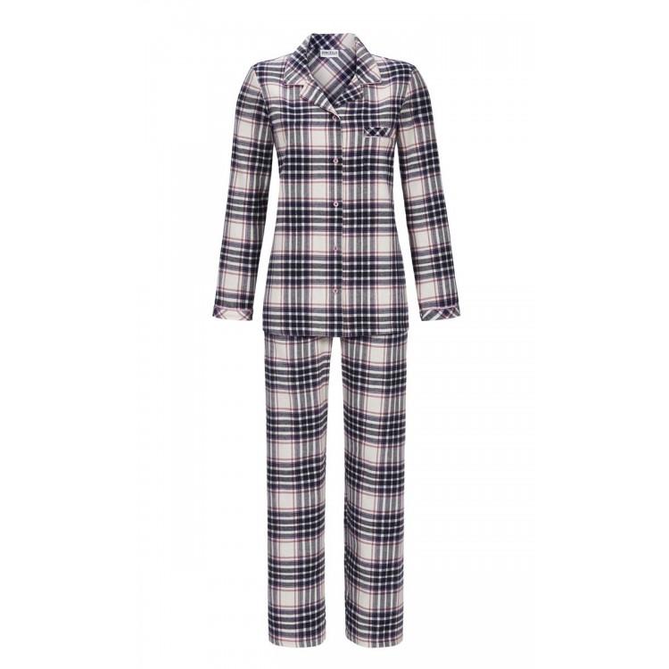 Ringella Flanellen Dames Pyjama Blauw 8517214