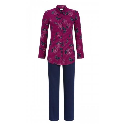 Ringella dames doorknoop pyjama (fuchsia, 9511235P-349)