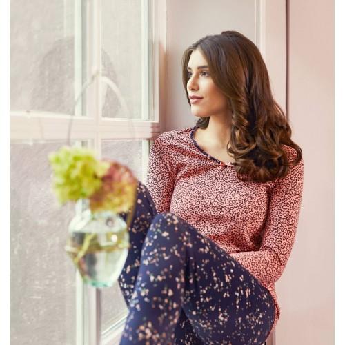 Ringella dames pyjama (zalmroze, 9561203P-839)