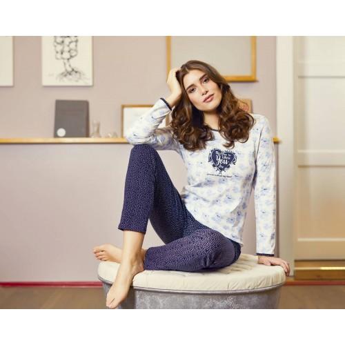 Ringella dames pyjama (lichtblauw, 9561213P-226)