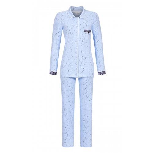 Ringella dames doorknoop pyjama (lichtblauw, 9561215P-226)