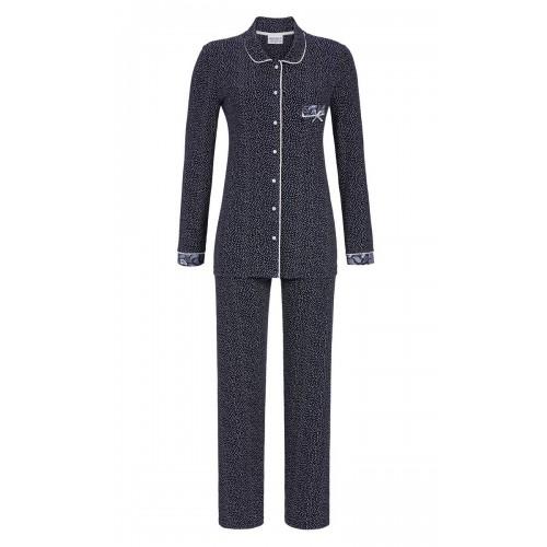 Ringella dames doorknoop pyjama (donkerblauw, 9561215P-286)