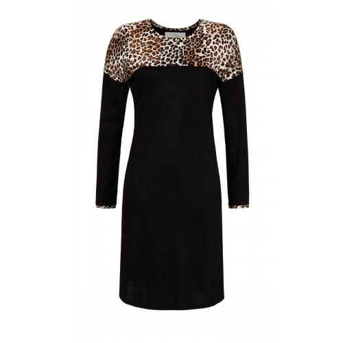 Ringella Cherie Line dames nachthemd (zwart, 9571006-900)