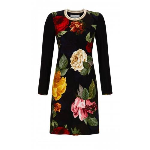 Ringella Cherie Line dames nachthemd (zwart, 9571010P-900)