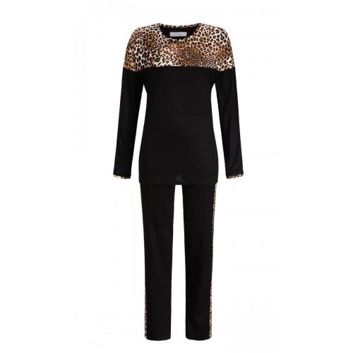 Ringella Cherie Line dames pyjama (zwart, 9571206P-900)