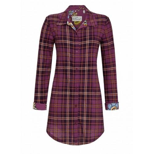 Ringella Bloomy dames doorknoop nachthemd (rosenholz, 0551002)