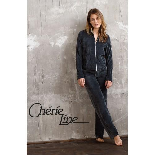 Ringella Cherie Line dames huispak (schiefer, 0573213)