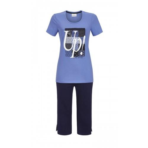 Ringella dames Pyjama capribroek (blauw, 8211233)