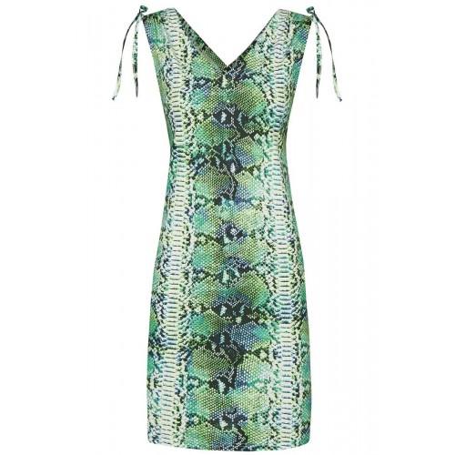 Ringella dames beach dress met V-hals (smaragd, 221041)