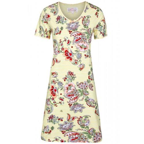 Ringella Bloomy dames nachthemd gestreept (french vanilla, 251008)