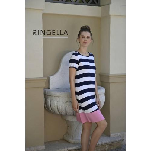 Ringella dames nachthemd KM (koraal, 1211005)