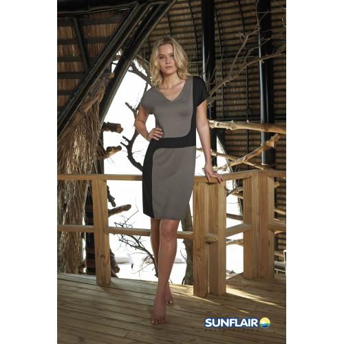 Sunflair dames beach dress City & Beach (zwart-bruin, 23349)