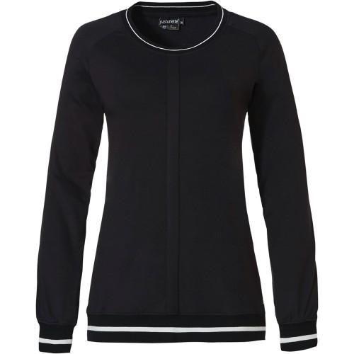 Pastunette dames pyjama top (zwart, 45202-370-2)