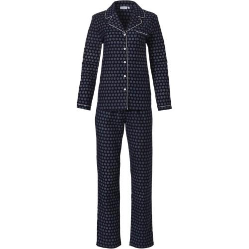 Pastunette flanellen dames pyjama (dark blue, 20212-152-6)