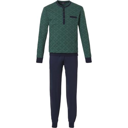 Pastunette heren pyjama (dark green, 23212-616-4)