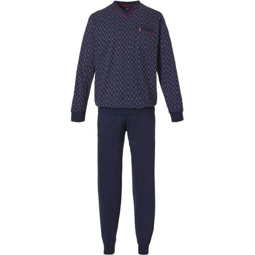 Robson tricot pyjama met boordjes (dark blue, 27212-702-2)