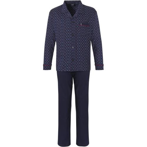 Robson tricot doorknoop pyjama (dark blue, 27212-702-6)
