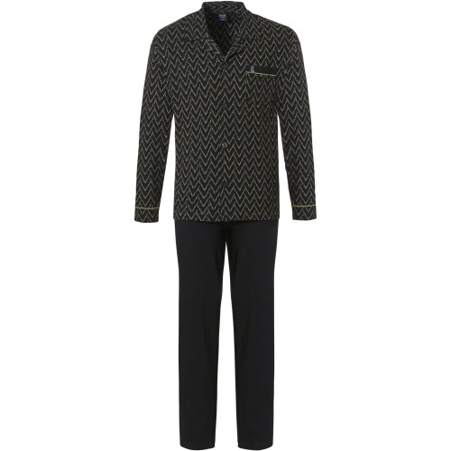 Robson tricot doorknoop pyjama (green, 27212-702-6)