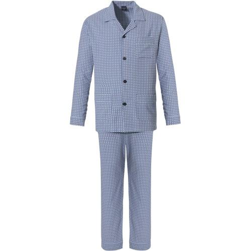 Robson flanellen doorknoop pyjama (blue, 27212-708-6)