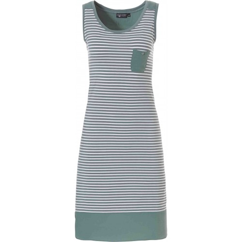 Pastunette dames nachthemd mouwloos (groen, 15191-101-1)