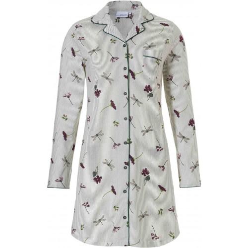 Pastunette dames doorknoop nachthemd (snow, 10182-100-6)