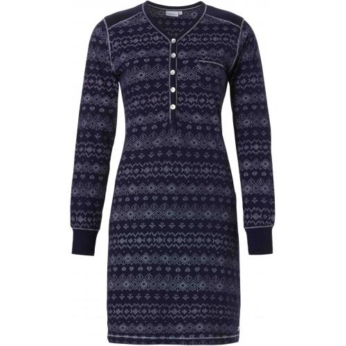 Pastunette dames nachthemd (blauw, 10182-190-4)