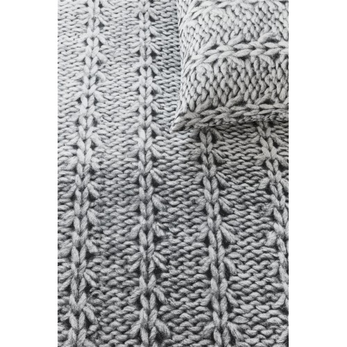 Ariadne dekbedovertrek Handcraft (dark grey)