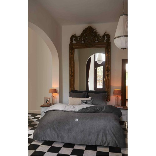 Riviera Maison dekbedovertrek Coughton Court (antraciet)