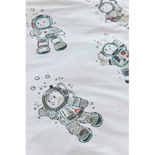 Beddinghouse dekbedovertrek Astronaut (grijs)