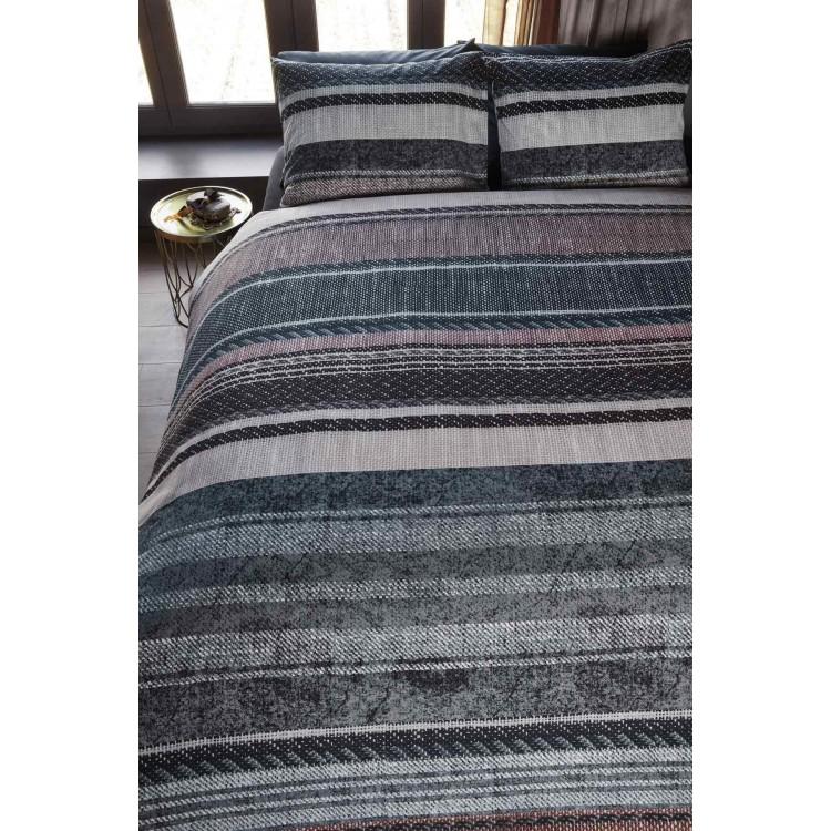 beddinghouse dekbedovertrek boyd grijs. Black Bedroom Furniture Sets. Home Design Ideas