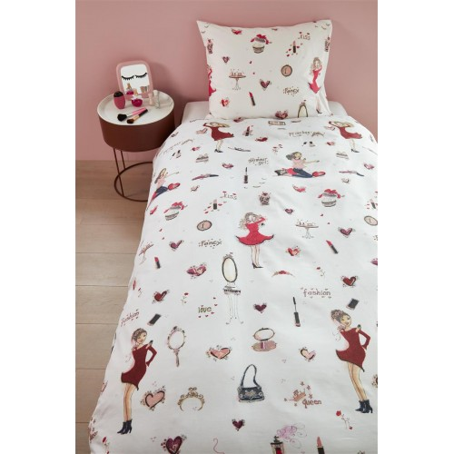 Beddinghouse dekbedovertrek Fashion (pink)