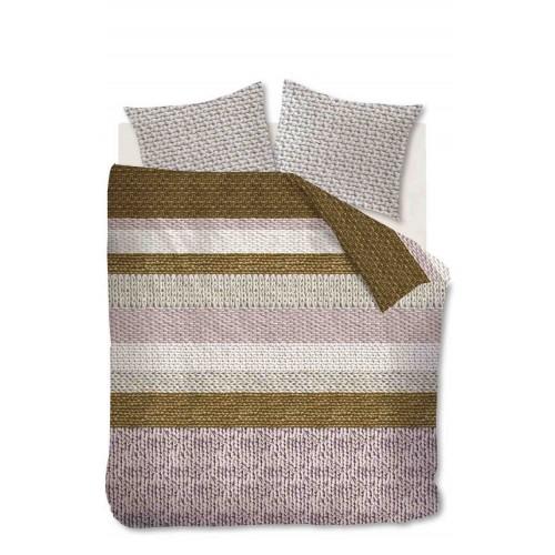 Beddinghouse flanellen dekbedovertrek Valdemar (soft pink)