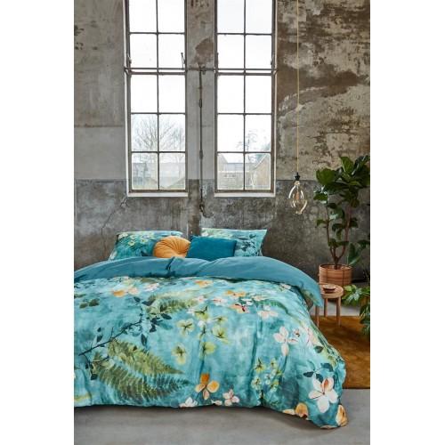 Beddinghouse dekbedovertrek Morning Whisper (satijn, blue-green)
