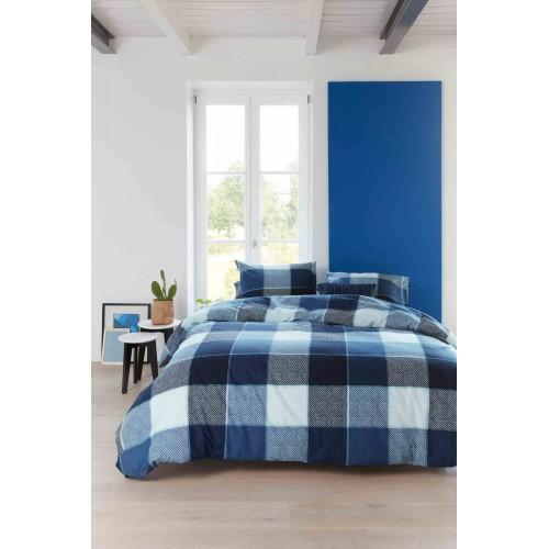 Beddinghouse dekbedovertrek Clyde (blauw)