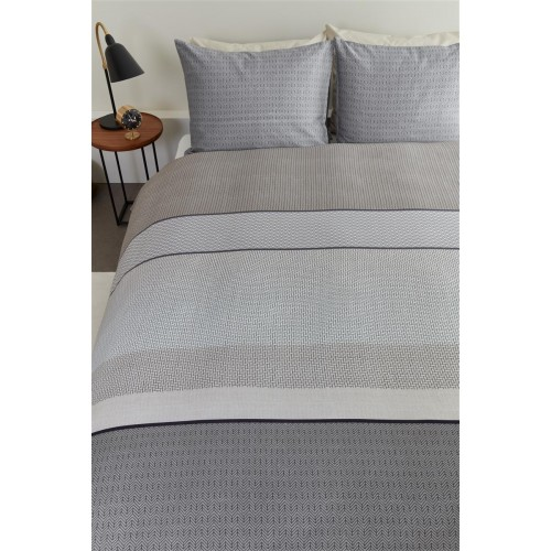Beddinghouse dekbedovertrek Dorette (satijn, grey)