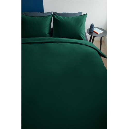 Beddinghouse bio-katoenen dekbedovertrek Basic (dark green)
