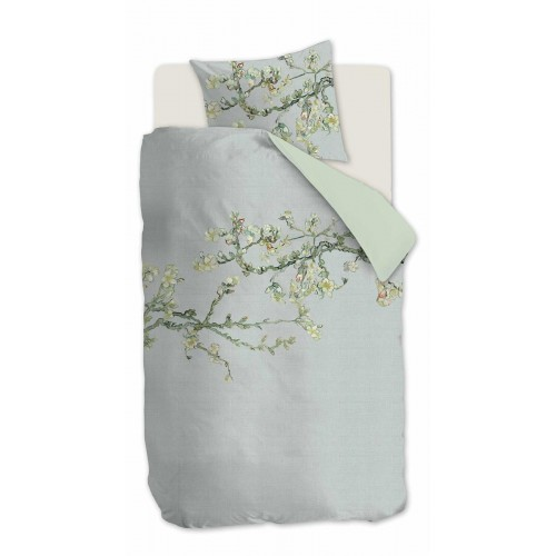 Beddinghouse x Van Gogh dekbedovertrek Blossom (satijn, grey)