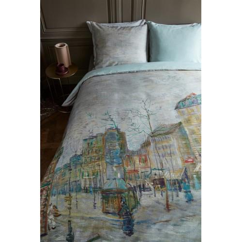 Beddinghouse x Van Gogh dekbedovertrek Boulevard (satijn, grey)