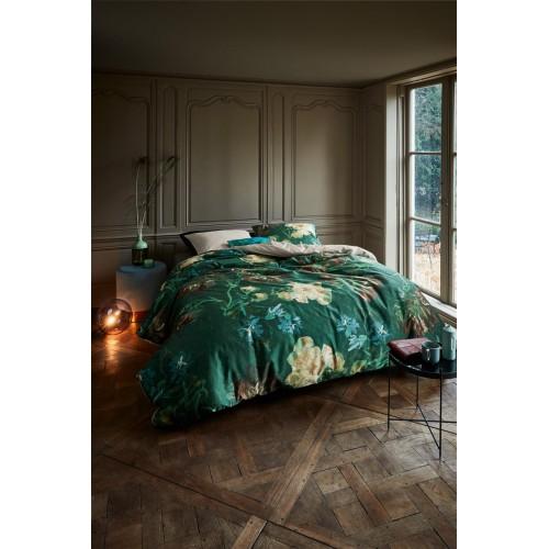 Beddinghouse x Van Gogh dekbedovertrek Peonies (satijn, green)