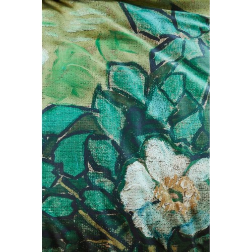 Beddinghouse x Van Gogh dekbedovertrek Wild Roses (satijn, green)